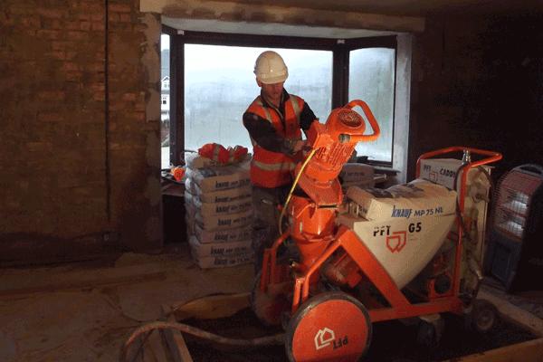 Machine Plastering Services